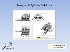 Bauplan für einen 6 zylinder v motor