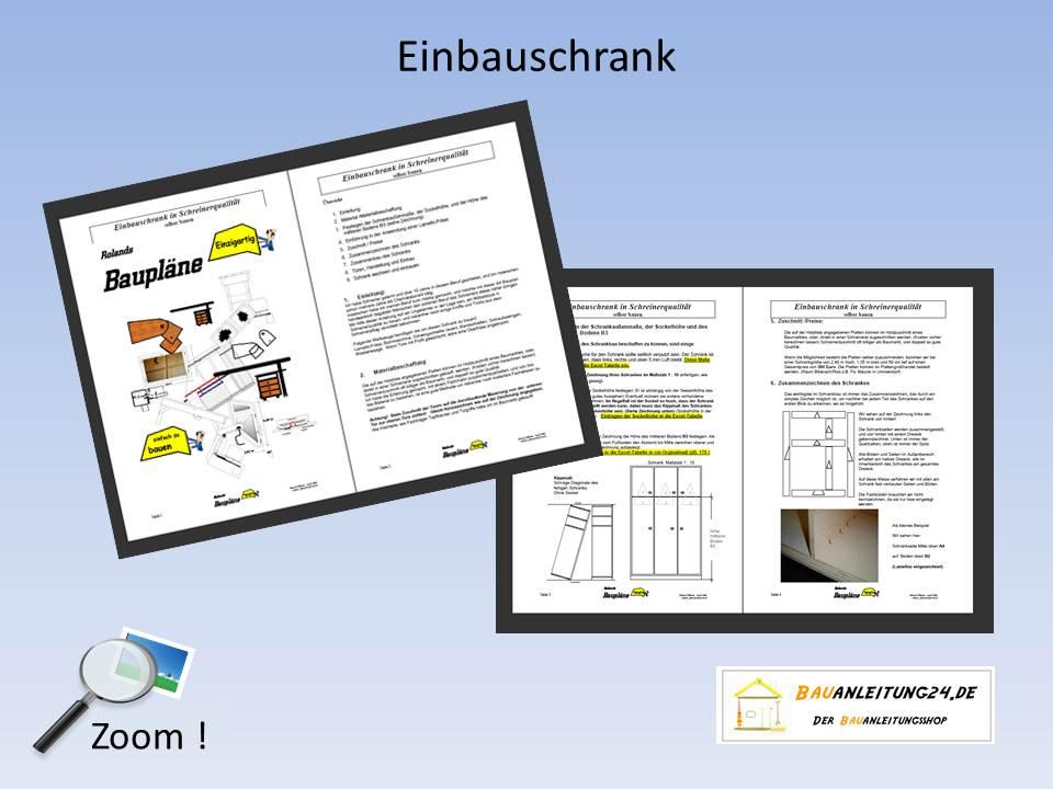 Bauanleitung Einbauschrank - Bauanleitungen & Baupläne von kreativen ...