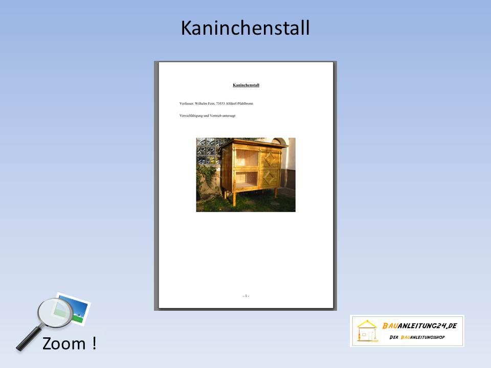 Leseprobe: Bauanleitung Kaninchenstall, Hasenstall, Kleintierstall
