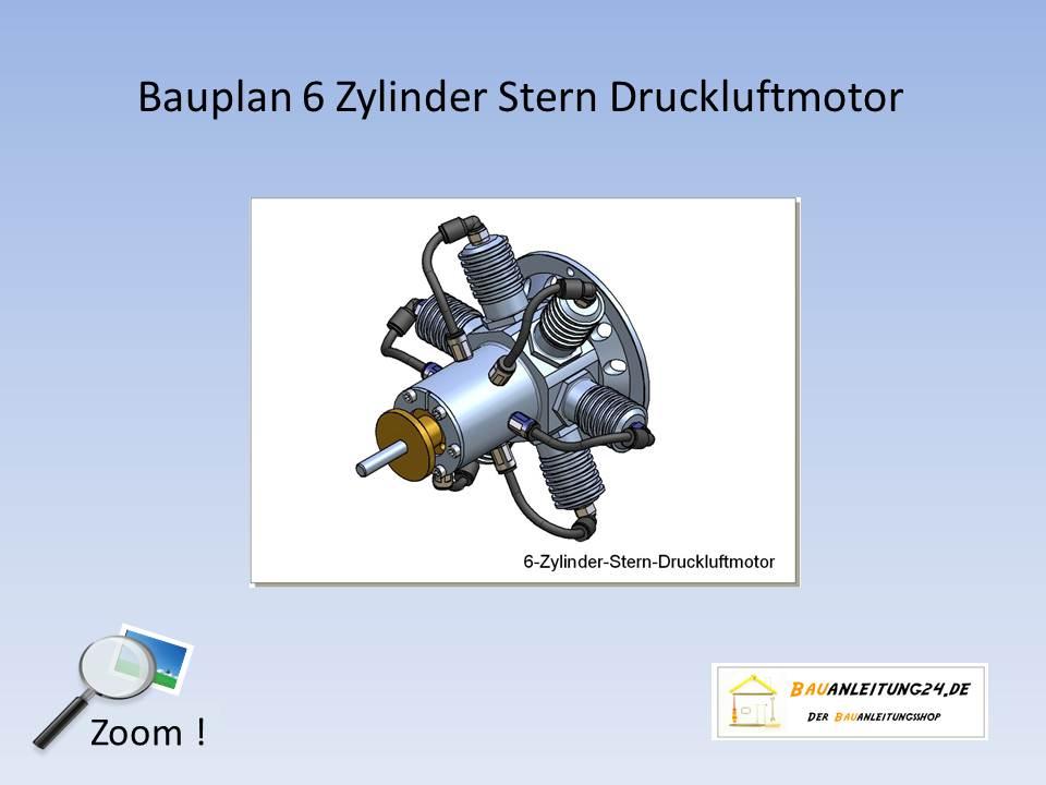 Bauplan Stern Druckluftmotor