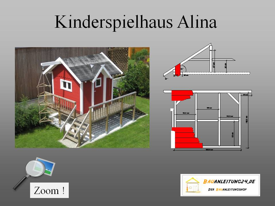 bauplan kinderspielhaus ohne terrasse. Black Bedroom Furniture Sets. Home Design Ideas
