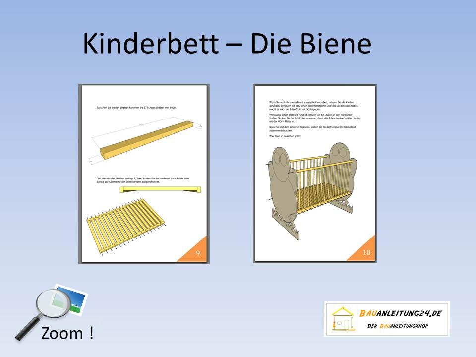 Babybett selber bauen mit bauplan  Bauanleitung Bienen Kinderbett - Bauanleitungen & Baupläne von ...