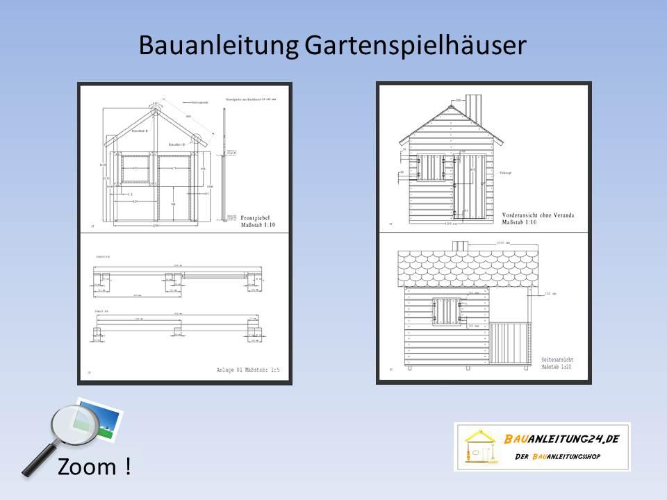 Bevorzugt Bauanleitung Kinderspielhaus YR72